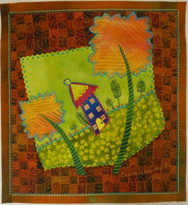 Embellishing the Blanket Stitch - Whimsy Lane Quilt