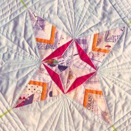Paper Pieced Scandinavian Leaf Block