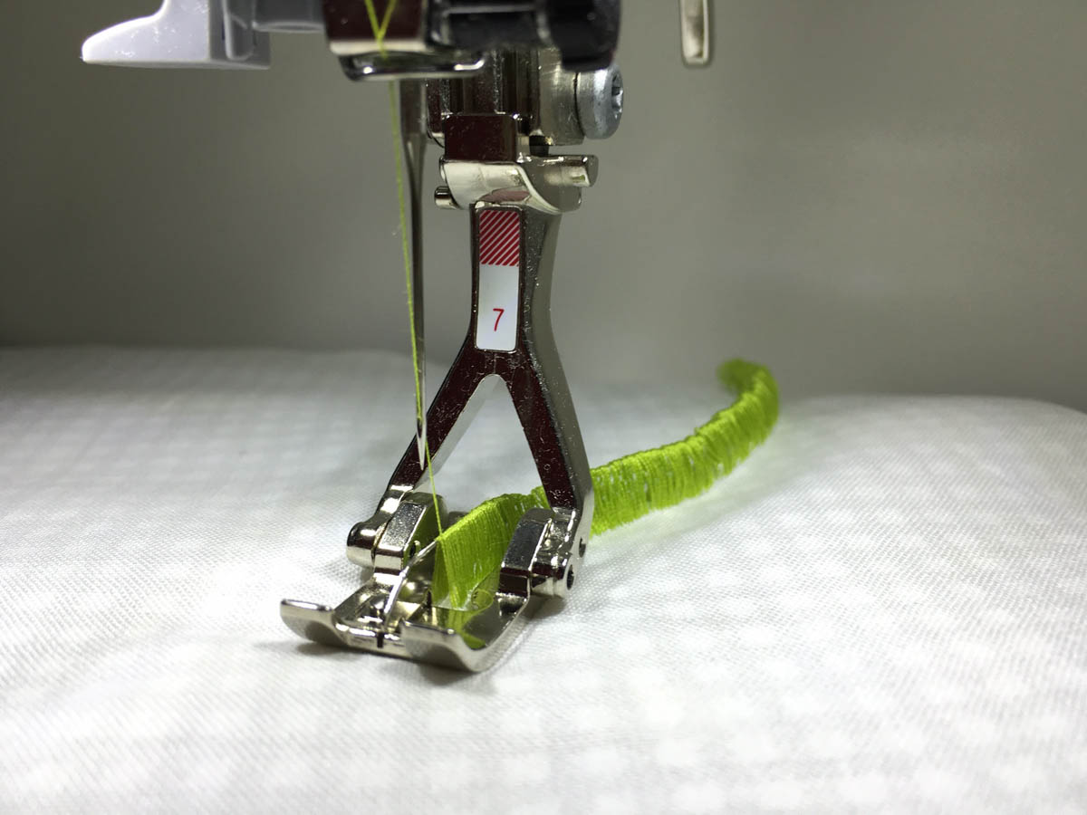 Stitching with the BERNINA Tailor Tack Foot #7