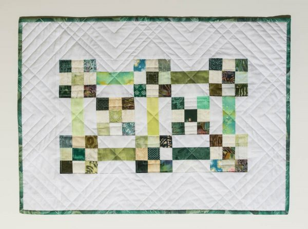 Straight Line Quilting - Finished quilt