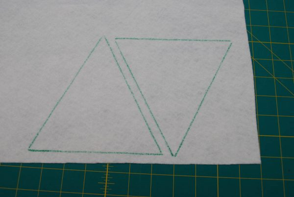 String of Pennants - tracing the triangle