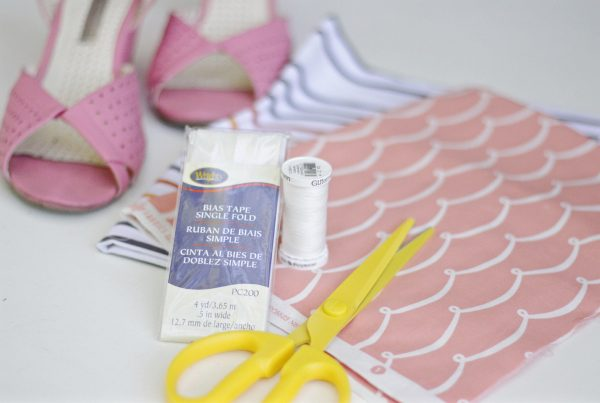 DIY 10-minute shoe bags materials
