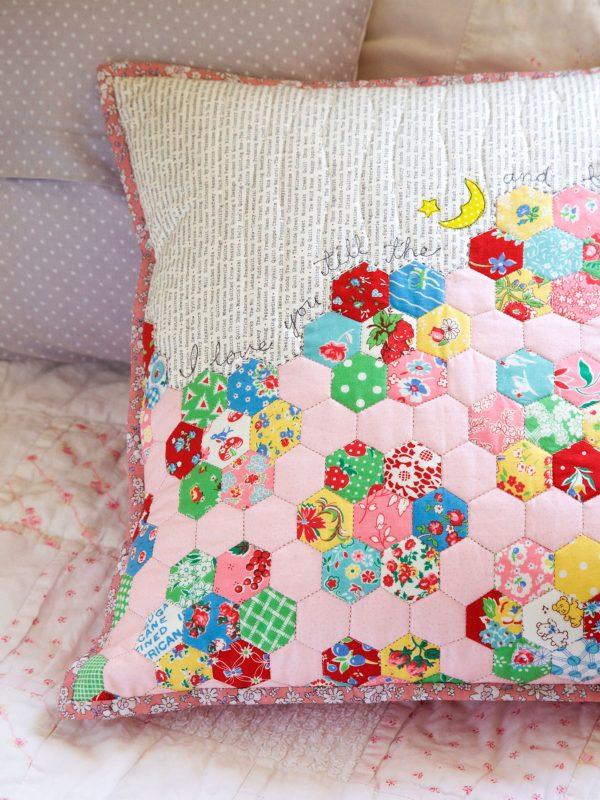 Easy hexie pillow