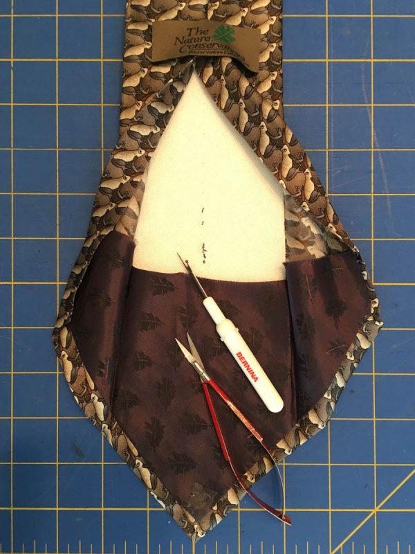 Photo Tie Tutorial - open back of tie