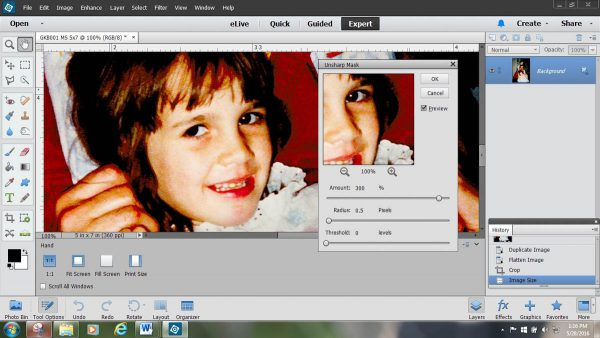 Photo Tie Tutorial - Unsharp Mask Function withfor Photography Preparation