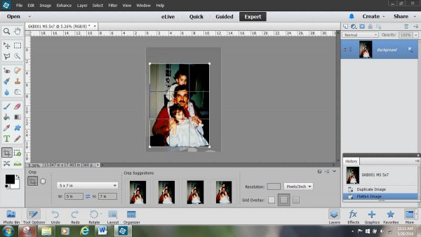 Photo Tie Tutorial - Cropping the image