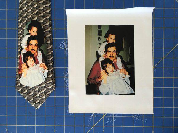 Photo Tie Tutorial - Printed Silk Sheet