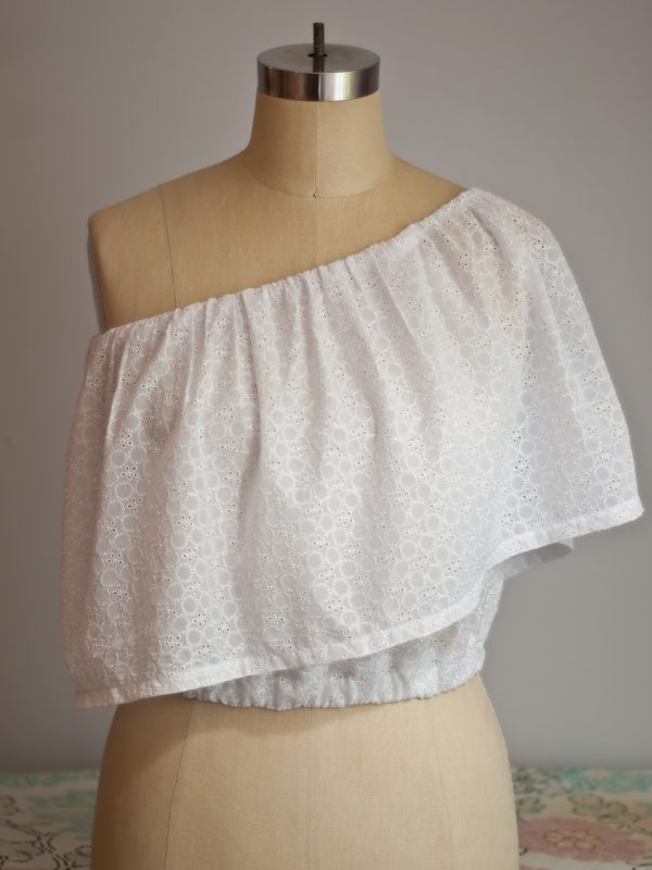Single Shoulder Ruffle Top Tutorial