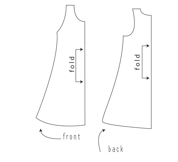 Swing dress Tutorial Step Four: Trace your slashed and spread pattern