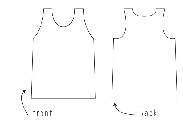 Swing Dress Tutorial Step One: grab your favorite tank
