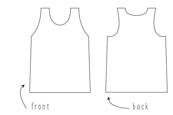 Swing Dress Tutorial Step One: grab your favorite tank