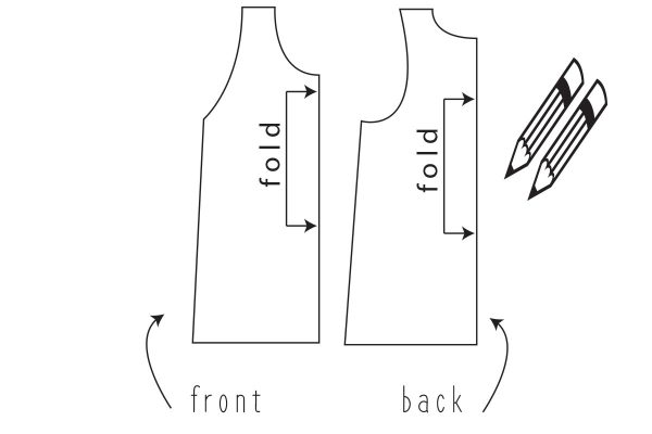 Swing Dress Tutorial Step Two: trace your favorite tank