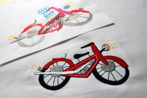 From child's drawing to digitized stitches