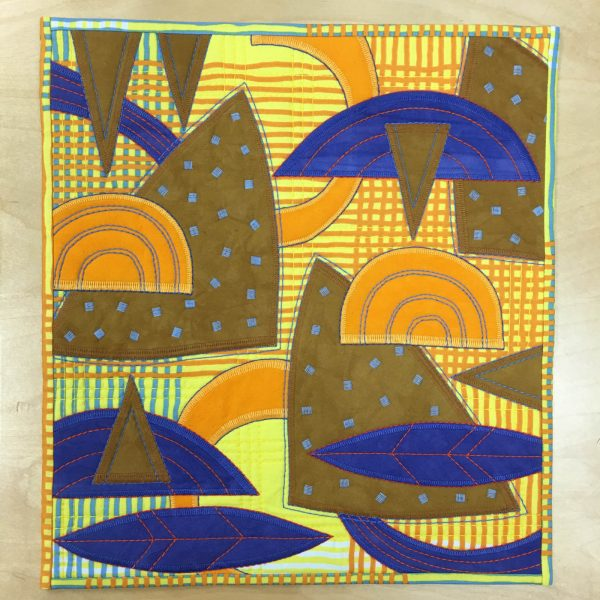 Abstract Applique- finished piece