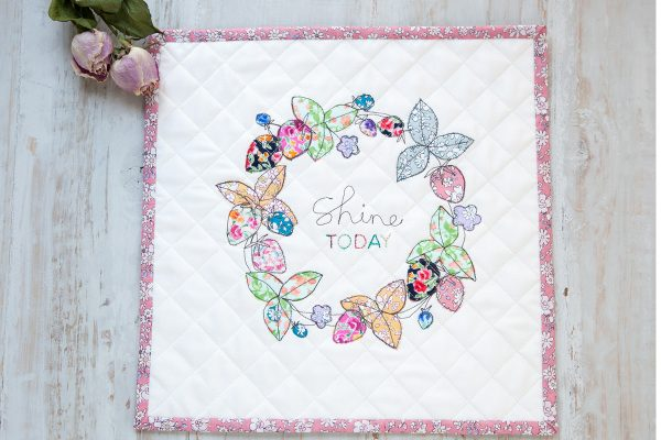 Embellishing with free-motion and applique