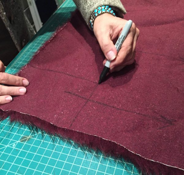 Tips for Sewing with Faux Fur by Kenneth King - Marking the Fur