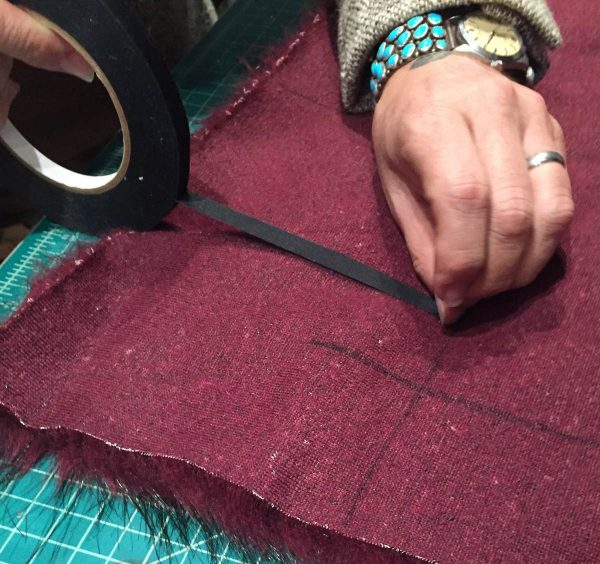 Tips for Sewing with Faux Fur by Kenneth King - Put cold tape on fake fur