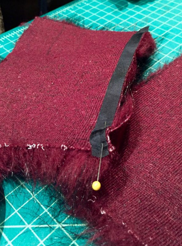 Tips for Sewing with Faux Fur by Kenneth King - pinning the seam
