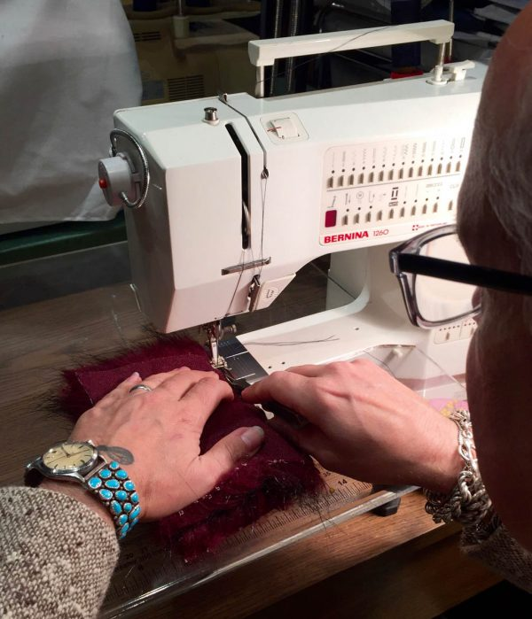 Tips for Sewing with Faux Fur by Kenneth King - sewing a seam