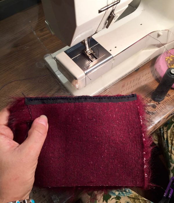 Tips for Sewing with Faux Fur by Kenneth King - finished seam