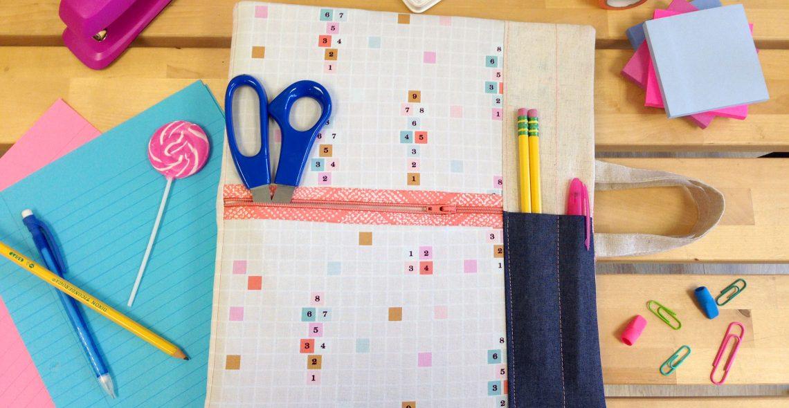 Back to school binder cover tutorial