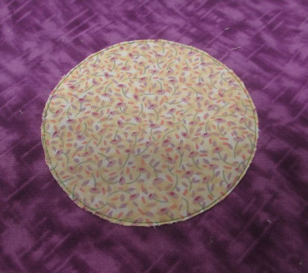 Circle Applique - appliqued circle