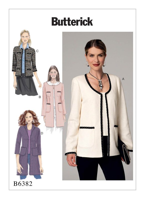 Fall Pattern Trends - Chanel-style jacket (6382) from Butterick