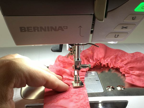 Flower Embellishing with the Gathering Foot - Start sewing at a moderate pace