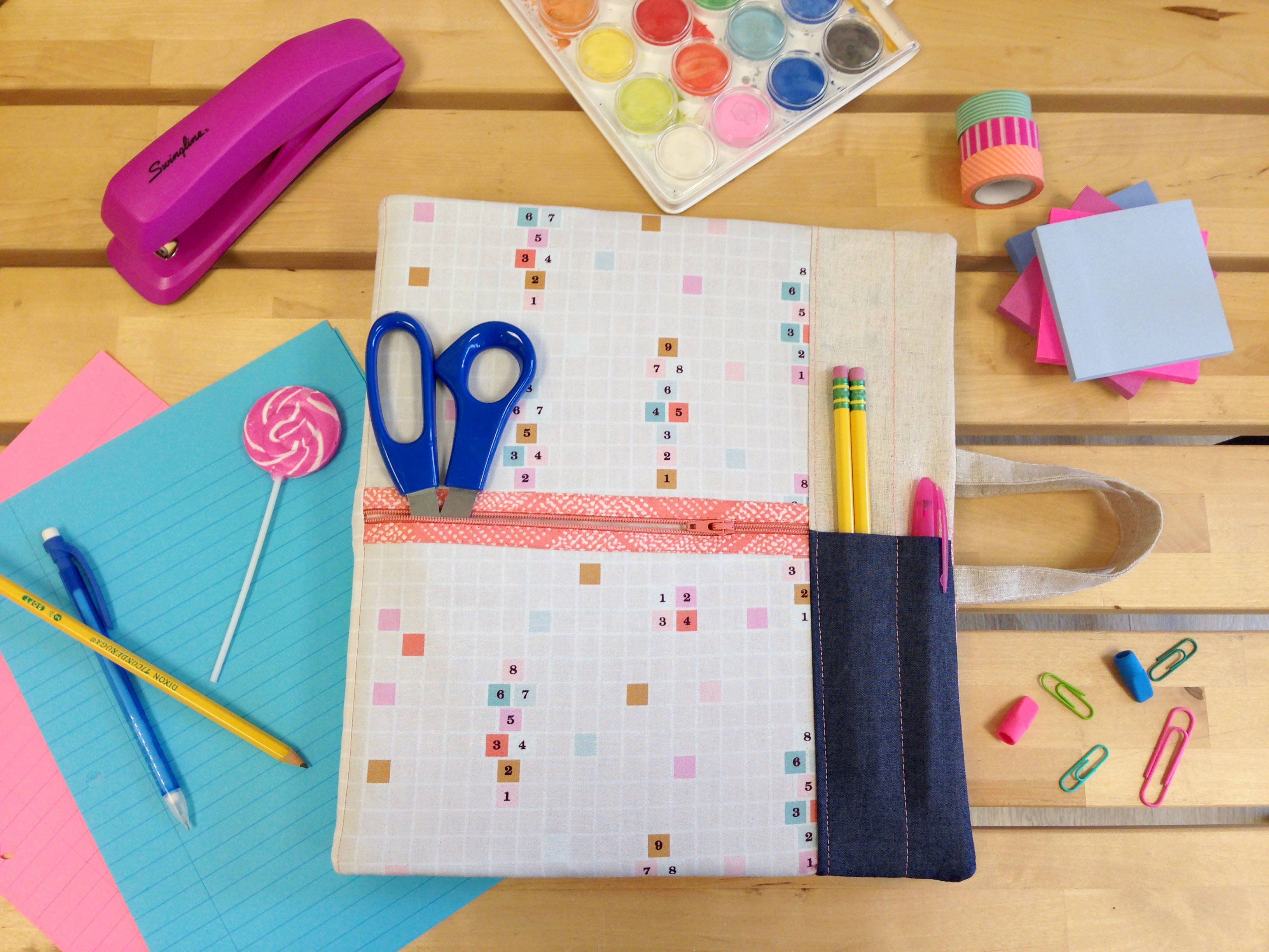 back to school binder cover from art gallery fabrics weallsew