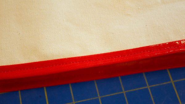 Oilcloth-lined Garden Tote Tutorial - binding