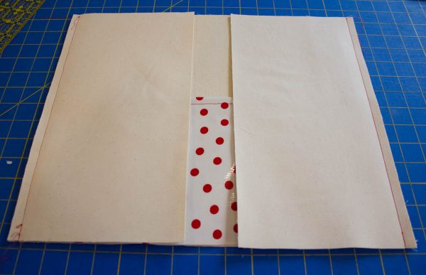 Oilcloth-lined Garden Tote Tutorial - Sew the canvas side pieces