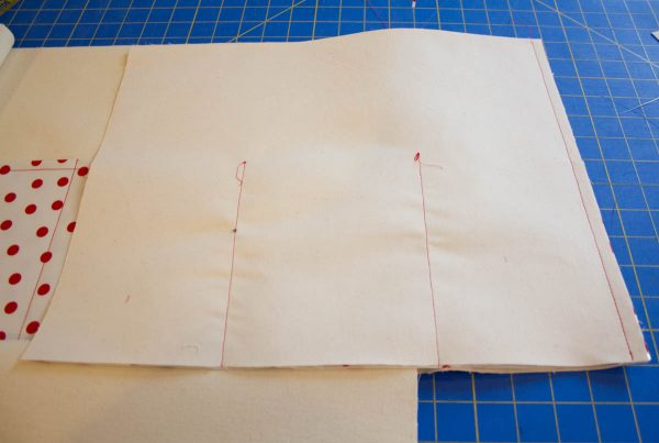 Oilcloth-lined Garden Tote Tutorial - sew panel pieces