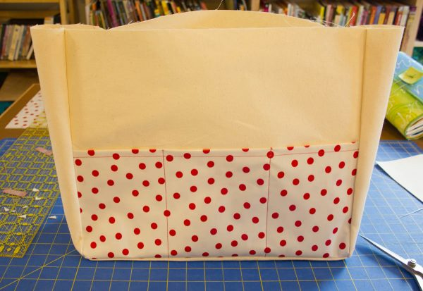 Oilcloth Garden Tote Tutorial - Turn the bag right side out