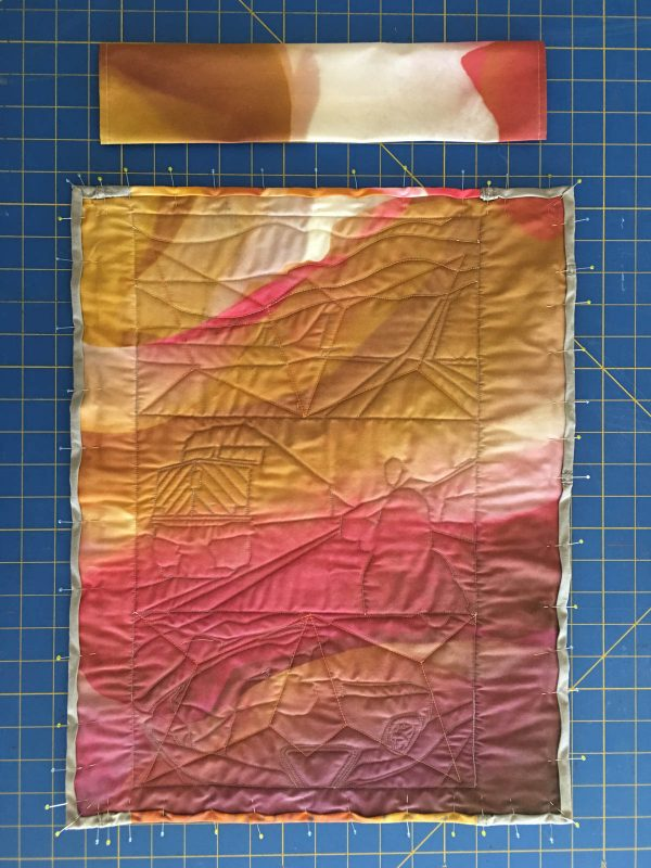 Quilting Green - hand stitch the turned edge