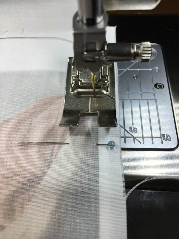 Quilting Green - stitching along the image