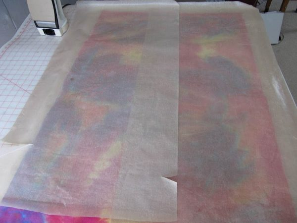 Wholecloth Artquilt Series Part II - covered the Misty Fuse with a few large Teflon sheets