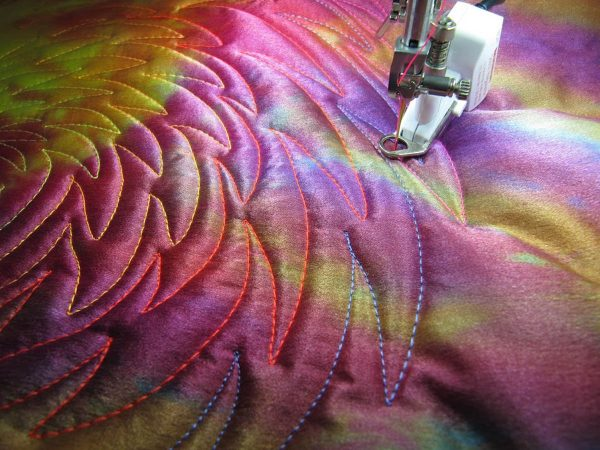 Wholecloth Artquilt Series Part II - free-motion quilting