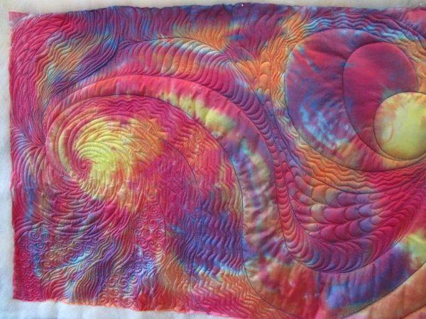 Wholecloth Artquilt Series Part II - spiral design