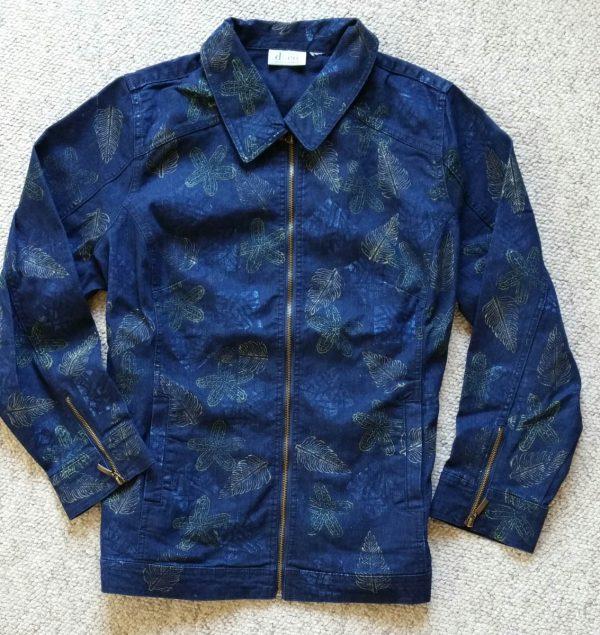 Embellished Denim Jacket-completed surface design