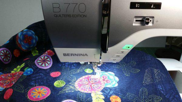 Embellished Denim Jacket - stitching applique in place