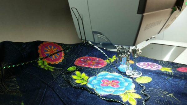 Embellished Denim Jacket-applying the cording