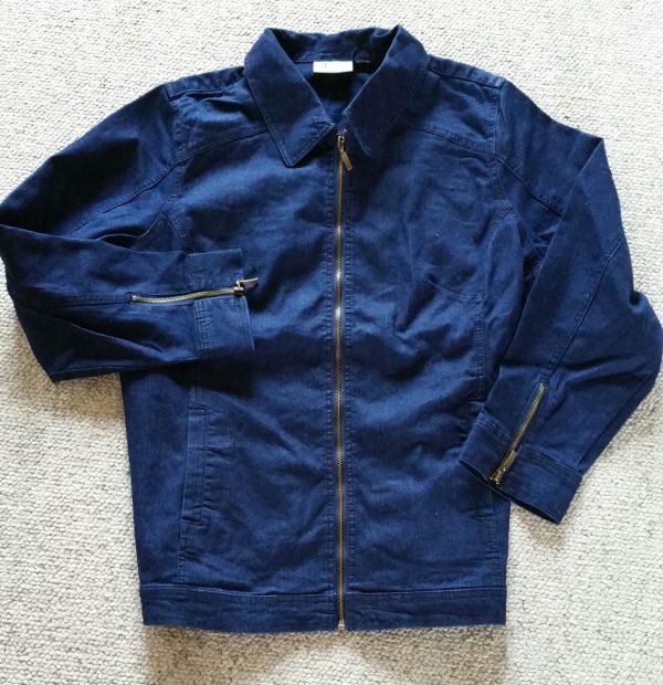 Embellished Denim Jacket - denim jacket before embellishing