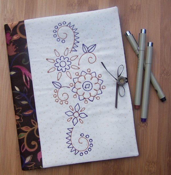 Embroidered Journal Cover- finished