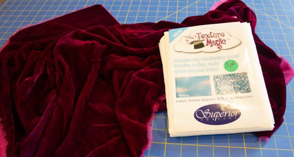 Textured Silk Velvet Scarf-materials