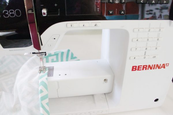Mini ironing board cover Step Six: create channel
