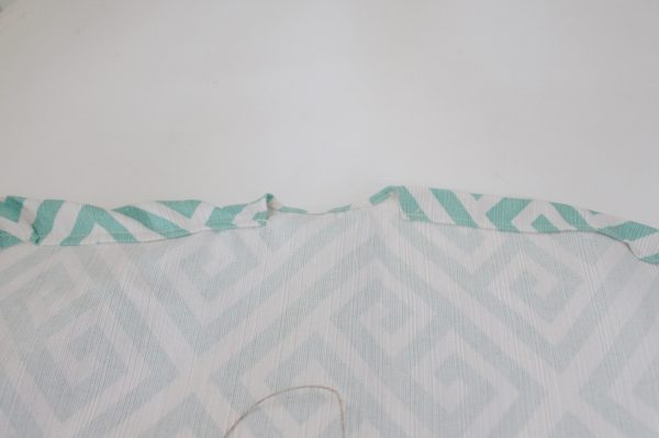 Mini ironing board cover Step Seven: create channel