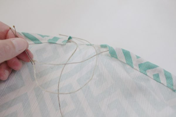 Mini ironing board cover Step Eight: put twine through channel