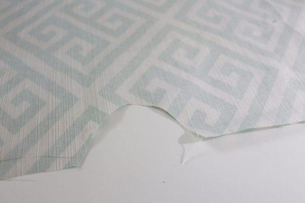 Mini ironing board cover Step Three: cut notch