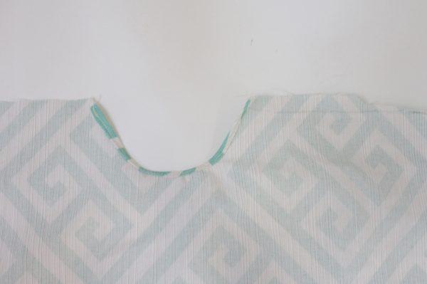 Mini ironing board cover Step Five: sew hem