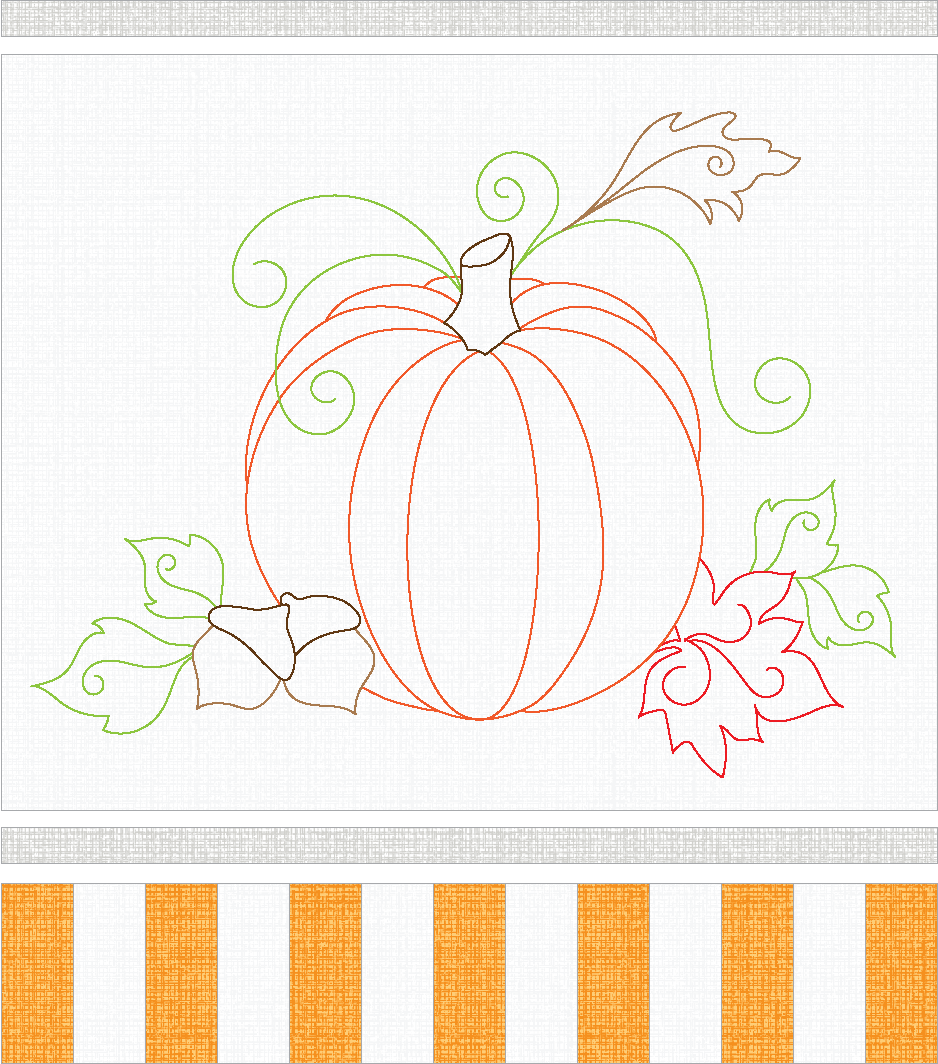 Pumpkin Table Topper Tutorial Weallsew